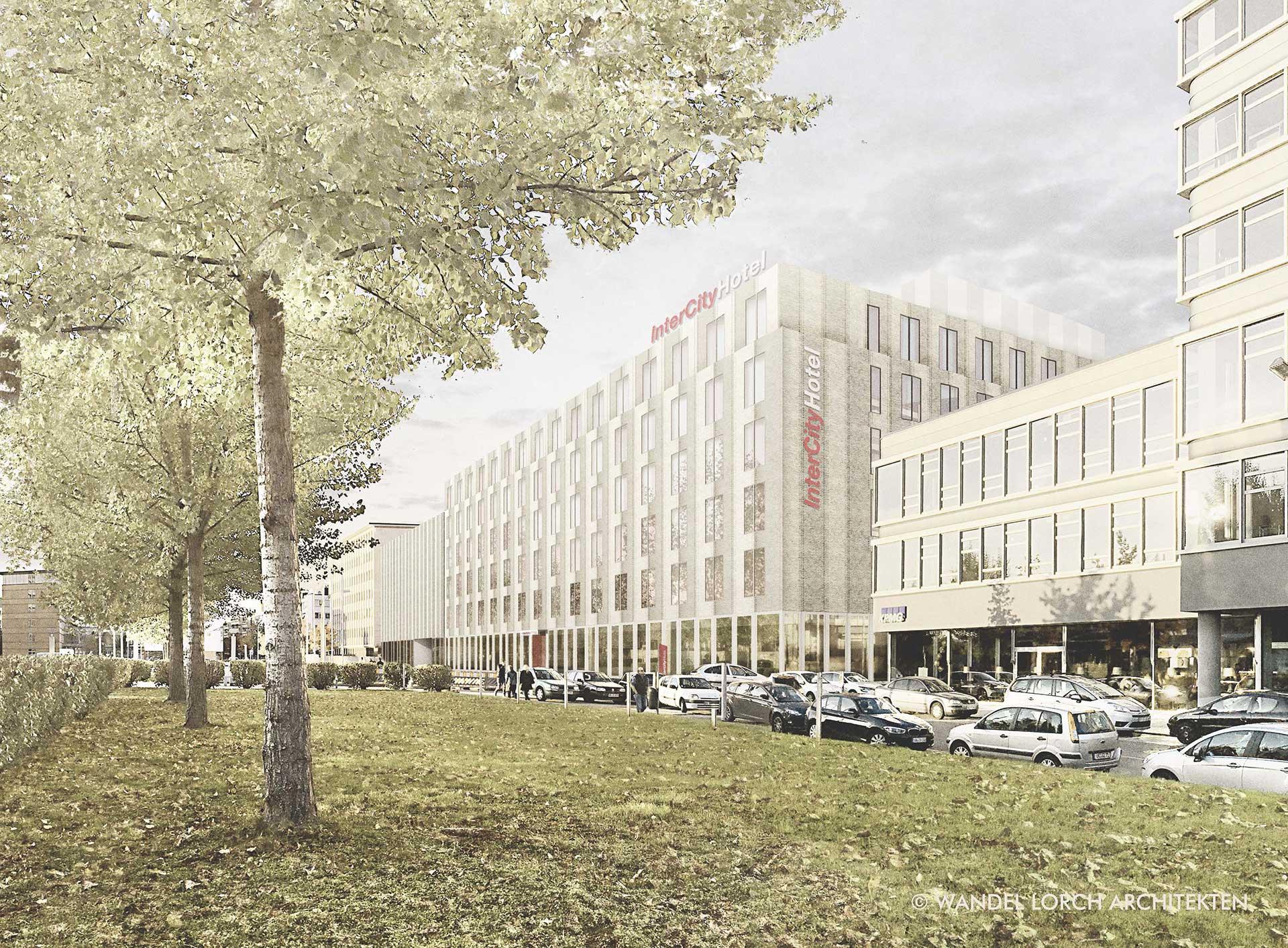 Neubau IntercityHotel mit Parkhaus Hafenstraße Saarbrücken
